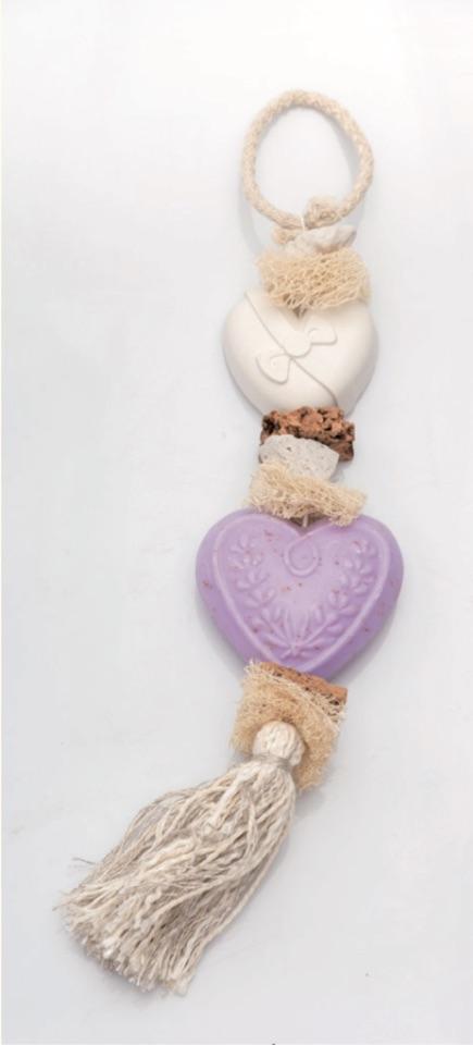 Seifen-Zopf Herz - Lavendel