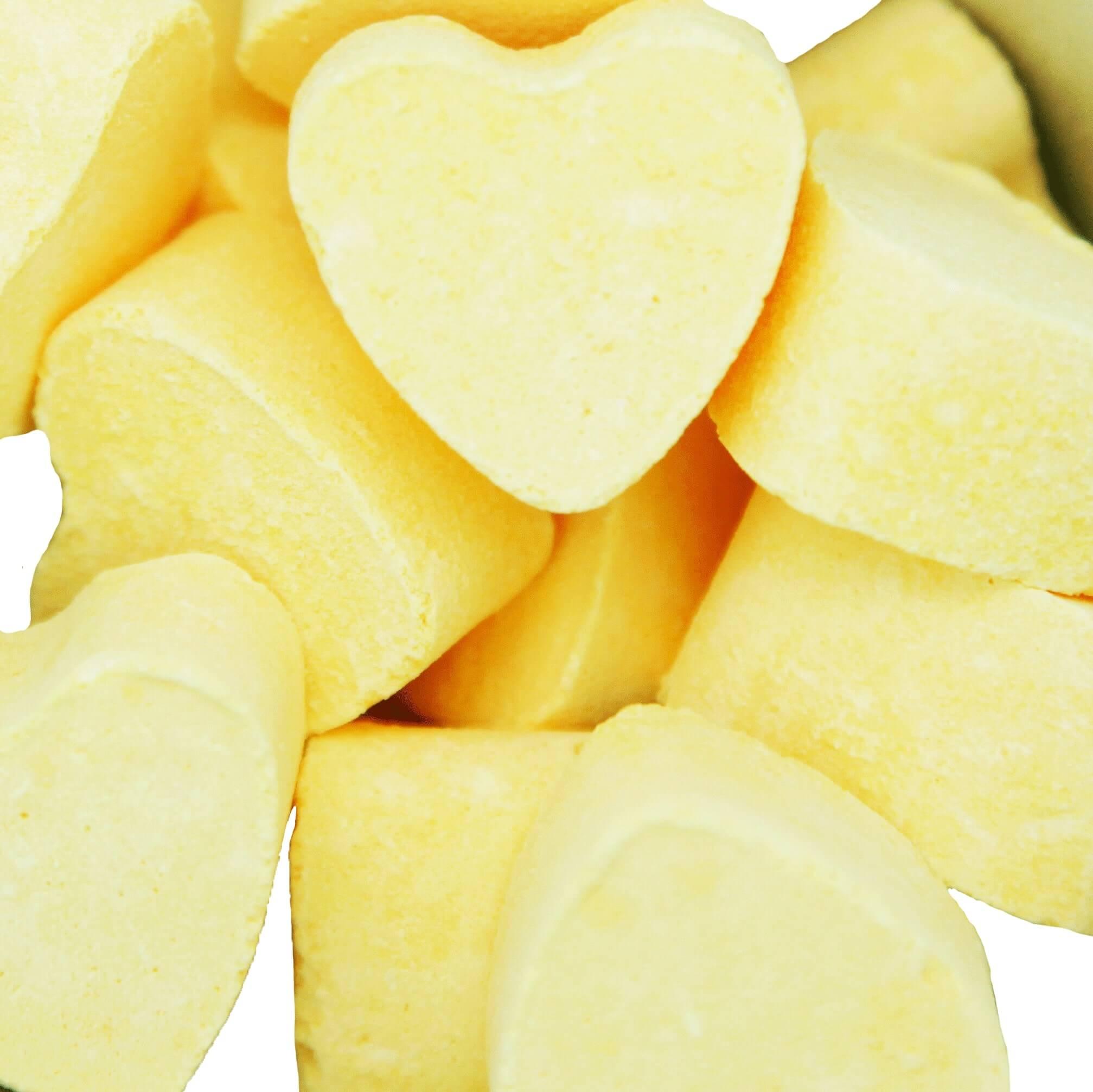 Badekugel Herz 10 Stk. - Zitrone