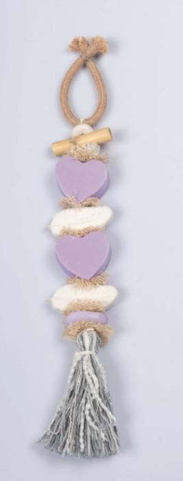 Seifen-Zopf Herz & Federn - Lavendel